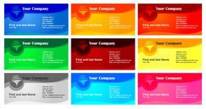 Conjunto del diseño de la tarjeta de visita Imagen de archivo libre de regalías
