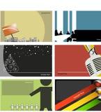 Conjunto del diseño de la tarjeta de visita Imágenes de archivo libres de regalías