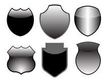 Conjunto del diseño del blindaje de plata Fotos de archivo libres de regalías