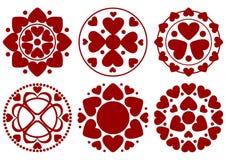 Conjunto del diseño del corazón Fotos de archivo