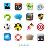 Conjunto del diseño del icono stock de ilustración
