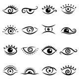 Conjunto del diseño del ojo Fotografía de archivo libre de regalías