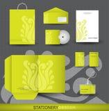 Conjunto del diseño del papel Fotografía de archivo