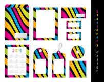 Conjunto del diseño del papel Imágenes de archivo libres de regalías