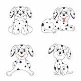 Conjunto del diseño del perro Fotos de archivo libres de regalías
