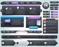 Conjunto del diseño del vector de los elementos del Web Imagen de archivo
