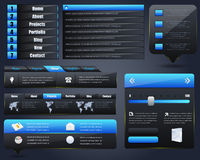 Conjunto del diseño del vector de los elementos del Web Imágenes de archivo libres de regalías