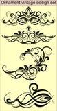 Conjunto del diseño del vintage del ornamento ilustración del vector