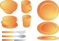 Conjunto del Dishware libre illustration