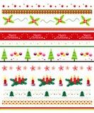 Conjunto del divisor de la frontera/del texto de Navidad Imagen de archivo libre de regalías