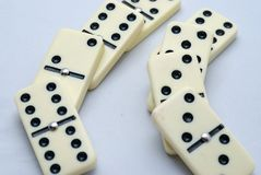 Sistema del dominó imagen de archivo