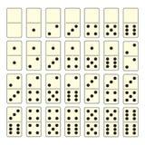 Conjunto del dominó Fotografía de archivo libre de regalías