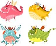 Conjunto del dragón stock de ilustración