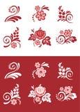 Conjunto del elemento floral Fotos de archivo