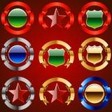 Conjunto del emblema Fotos de archivo libres de regalías