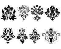 Conjunto del emblema del damasco Fotos de archivo