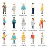 Conjunto del empleo ilustración del vector
