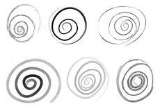 Conjunto del espiral del vector Imagen de archivo libre de regalías