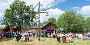 Conjunto del folklore de Suecia Imagen de archivo libre de regalías