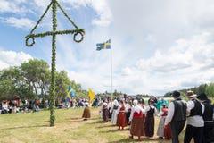 Conjunto del folklore de Suecia Foto de archivo libre de regalías