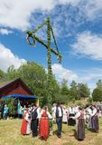 Conjunto del folklore de Suecia Foto de archivo