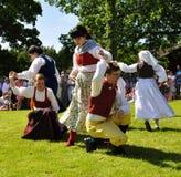 Conjunto del folklore de Suecia imagenes de archivo