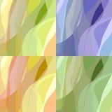 Conjunto del fondo abstracto cuatro Imagen de archivo libre de regalías