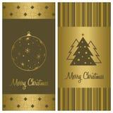 Conjunto del fondo de la tarjeta de Navidad Fotografía de archivo