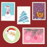 Conjunto del franqueo del invierno Fotos de archivo libres de regalías