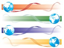 Conjunto del globo Imágenes de archivo libres de regalías