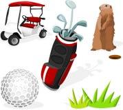 Conjunto del golf Foto de archivo