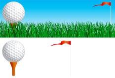 Conjunto del golf Imagen de archivo
