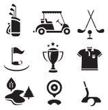 Conjunto del golf Imagenes de archivo