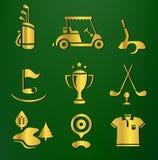 Conjunto del golf Fotos de archivo
