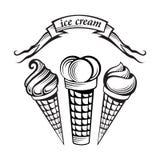 Conjunto del helado Imagen de archivo