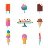 Conjunto del helado Fotografía de archivo libre de regalías