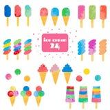 Conjunto del helado ilustración del vector