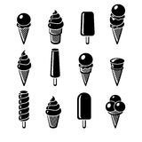 Conjunto del helado Vector Foto de archivo libre de regalías