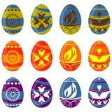 Conjunto del huevo de Pascua ilustración del vector