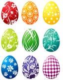 Conjunto del huevo de Pascua Fotos de archivo libres de regalías