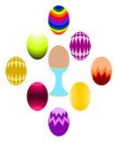 Conjunto del huevo de Pascua Foto de archivo libre de regalías