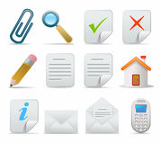 Conjunto del icono Foto de archivo libre de regalías