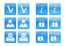 Conjunto del icono Imagen de archivo libre de regalías