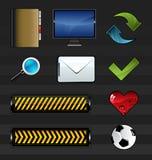 Conjunto del icono Fotos de archivo