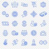 Conjunto del icono del asunto y de las finanzas icono 25 stock de ilustración
