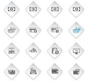 Conjunto del icono del comercio electrónico libre illustration