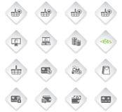 Conjunto del icono del comercio electrónico ilustración del vector