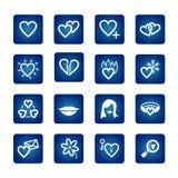 Conjunto del icono. Corazones, amor, tarjeta del día de San Valentín Imagen de archivo libre de regalías