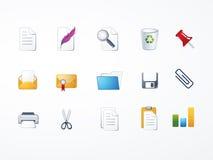 Conjunto del icono de documentos Imagen de archivo libre de regalías