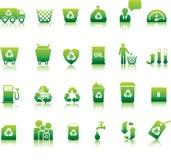 Conjunto del icono de Eco Imágenes de archivo libres de regalías